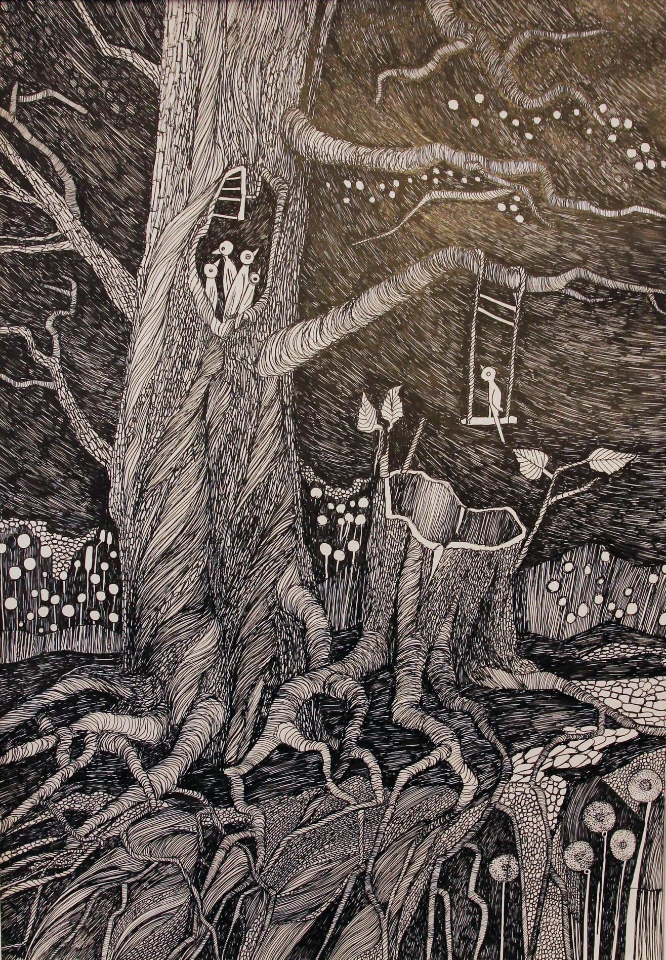 Klara-Stolp-z-cyklu-Na-oczach-poety-umiera-świat-rysunek-tuszem-70x50cm-2020