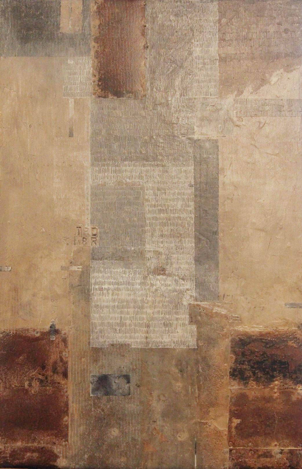 """Waldemar-Rudyk-""""Peryferia""""-14obiekt-–-drewno-metal-akryl-40x26cm-v-3cm-2020-"""