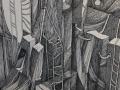 """Klara-Stolp-""""Przestrzeń""""-rysunek-tuszem-70x50cm-2020-"""