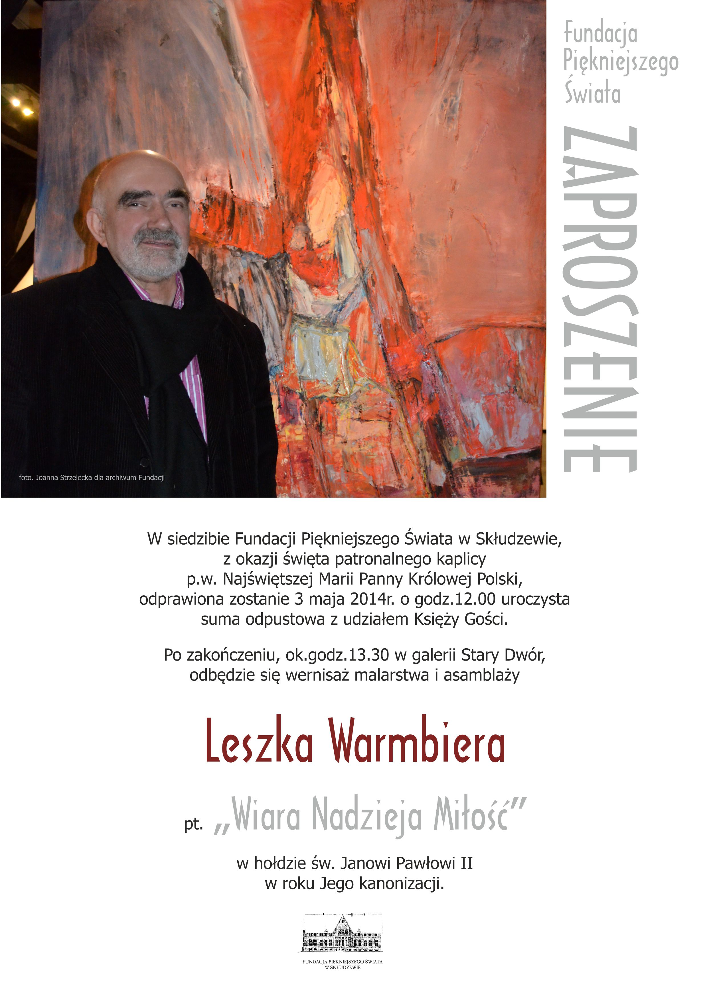 Zaproszenie Leszek Warmbier 3 maja 2014